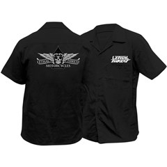Lethal Motorcycle Embroidered Work Shirt