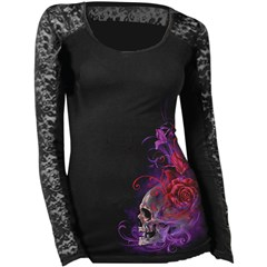 Purple Haze Womens Lace Long Sleeve Shirts