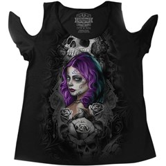Queen of Heart Womens Shoulder Peak Shirts