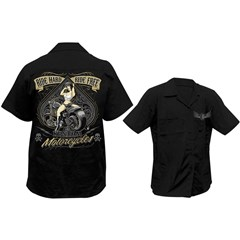 Ride Hard Ride Free Work Shirts