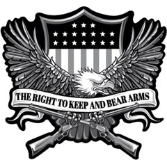 Right to Bear Arms Eagle Embroidered Patch