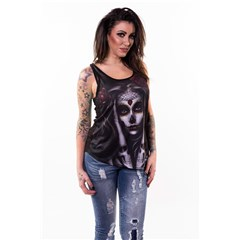 Skull Arm Tattoo Womens Tank Tops