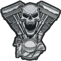 Skull Motor Embroidered Patch
