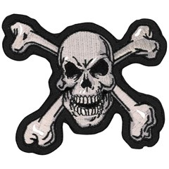 Skull N Bones Embroidered Patch