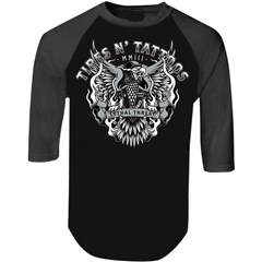 Tires N Tattoo Eagle 3/4 Sleeve Shirts