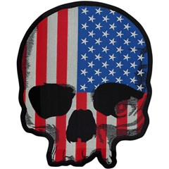 USA Flag Skull Embroidered Patch