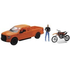 1:14 Scale Orange F-150 Truck with KTM 350 SX-F Motorcycle