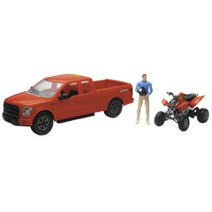 1:14 Scale Red F-150 Truck with Honda TRX450 ATV
