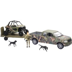 1:18 Scale Pick Up and Trailer with Polaris Camo RZR 1000XP