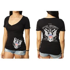 2nd Amendment Womens V-Neck T-Shirts