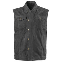 Ramone Perforated Waxed Cotton Vests