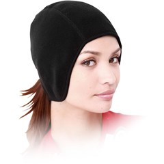 Fleece Skullcap with Ponytail Holder