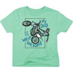 Dads Wheelie Awesome Toddler T-Shirts