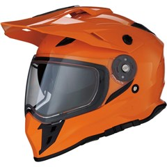 Range Solid Snow Helmets with Dual-Lens Shield