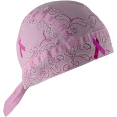 Breast Cancer Awareness Flydanna Ribbon Paisley