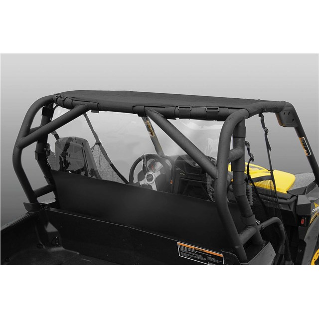 Windstopper Solid Black Nylon with Clear Vinyl Window