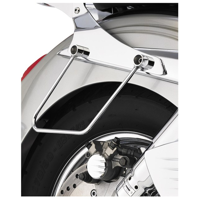 Chromed Saddlebag Supports for Yamaha