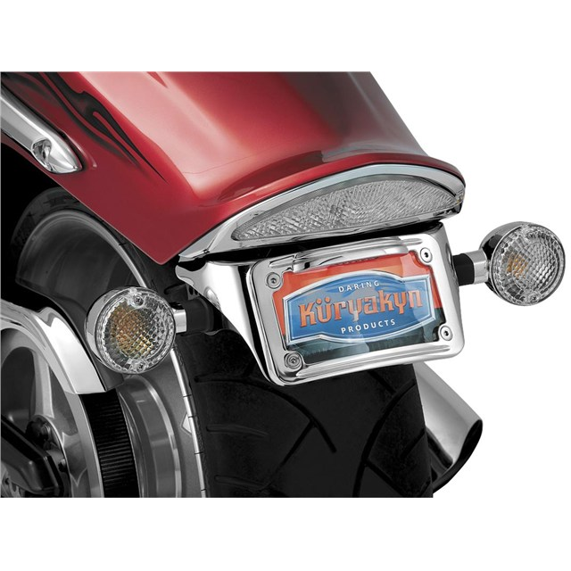 Sub Fender License Plate Bracket with L.E.D. Curved Frame