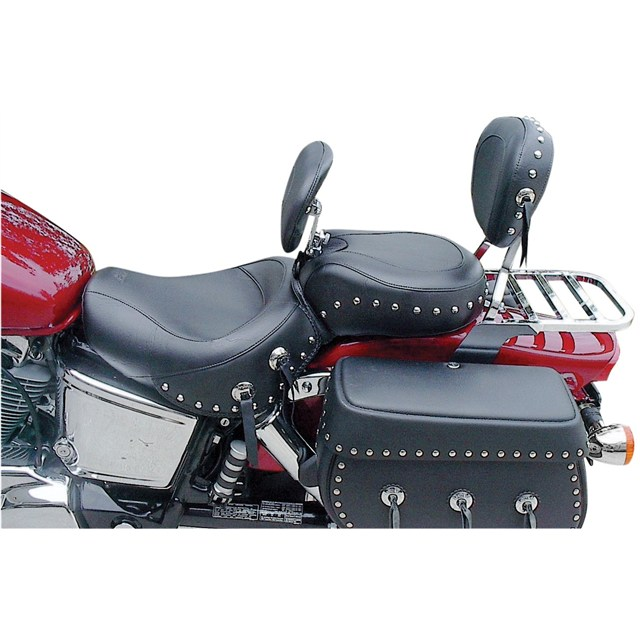 1-Piece Wide Touring Seats with Driver Backrest for Kawasaki