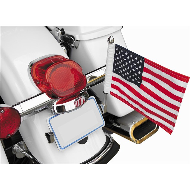 "License Plate Mount with 6"" x 9"" USA Flag"