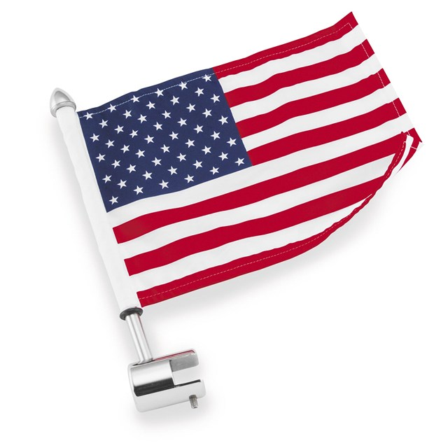 "Sissy Bar Metric Mount (.25"") with 6"" x 9"" USA Flag"