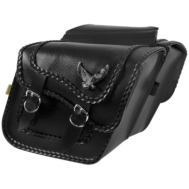 Black Magic Slant Saddlebags