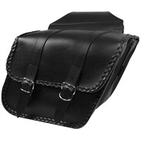 Braided Slant Saddlebags