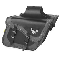 Gray Thunder Studded Slant Saddlebags