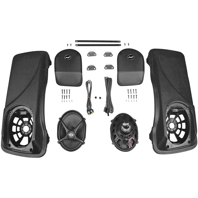 XX 5x7 Saddlebag Lid Speaker Kit with Lids