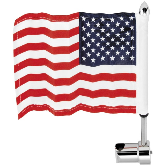 "Sissy Bar Round Mount with 6"" x 9"" USA Flag"