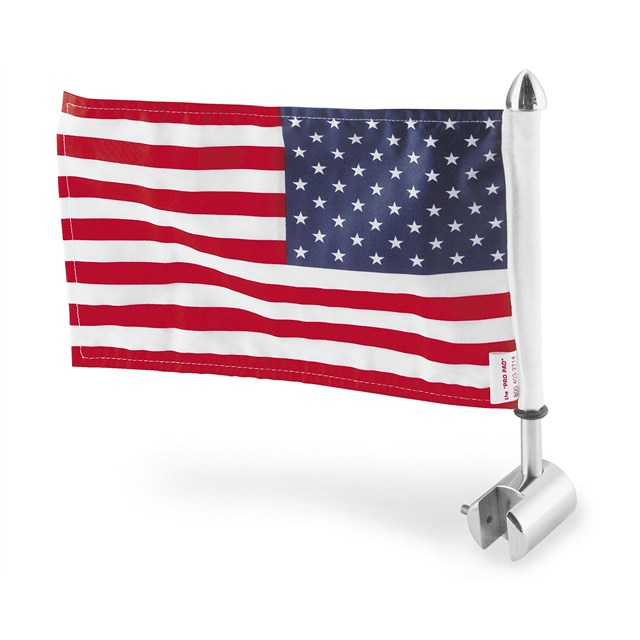 "Sissy Bar Square Mount with 6"" x 9"" USA Flag"