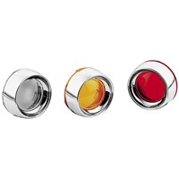 Deep Dish Bezels with Lenses for Bullet Turn Signals