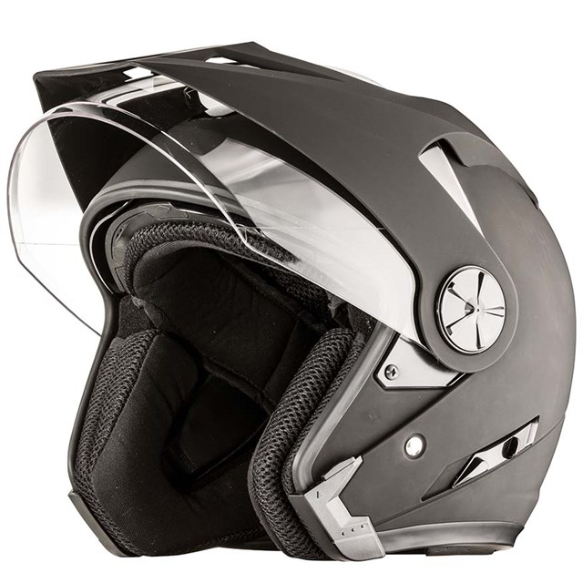 Arctic Cat Open Face Helmet Matte Black - Medium