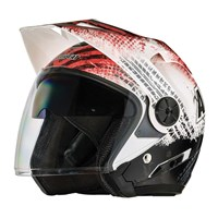 Arctic Cat Open Face Helmet Gloss Red - Small