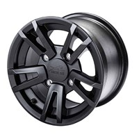 Turbo 10 Aluminum Wheel Matte Black 12X7.5 - Rear