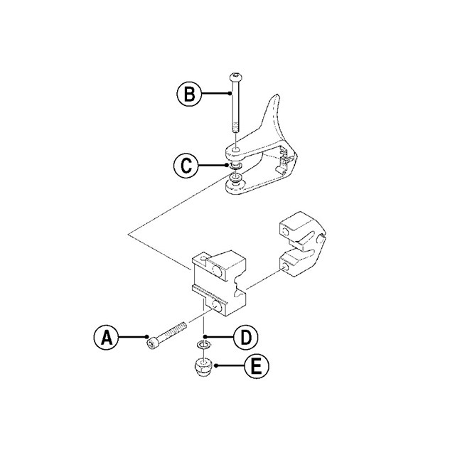 Throttle Lever Kit Aluminum Mounting Block