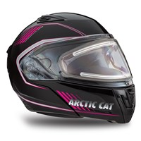 Arctic Cat Modular Helmet with Electric Shield Pink - Medium