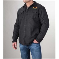 Arctic Cat Quilted Flannel Gray - X-Large