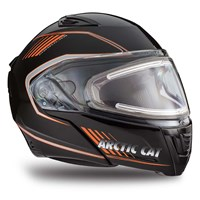 Arctic Cat Modular Helmet with Electric Shield Orange - Small
