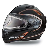 Arctic Cat Modular Helmet with Electric Shield Orange - Medium