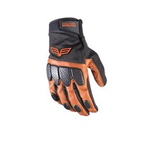 Off Road Leather Glove Black/Bronze - Large