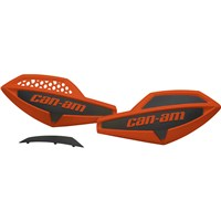 Handlebar Wind Deflectors - Can-Am Red / Black