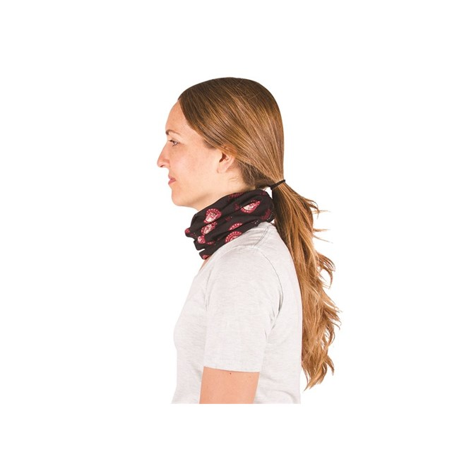 Printed Stretch Multifunctional Headwear, Black/Red