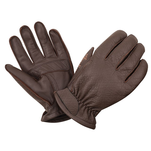 Men's Leather Texture Gloves, Brown