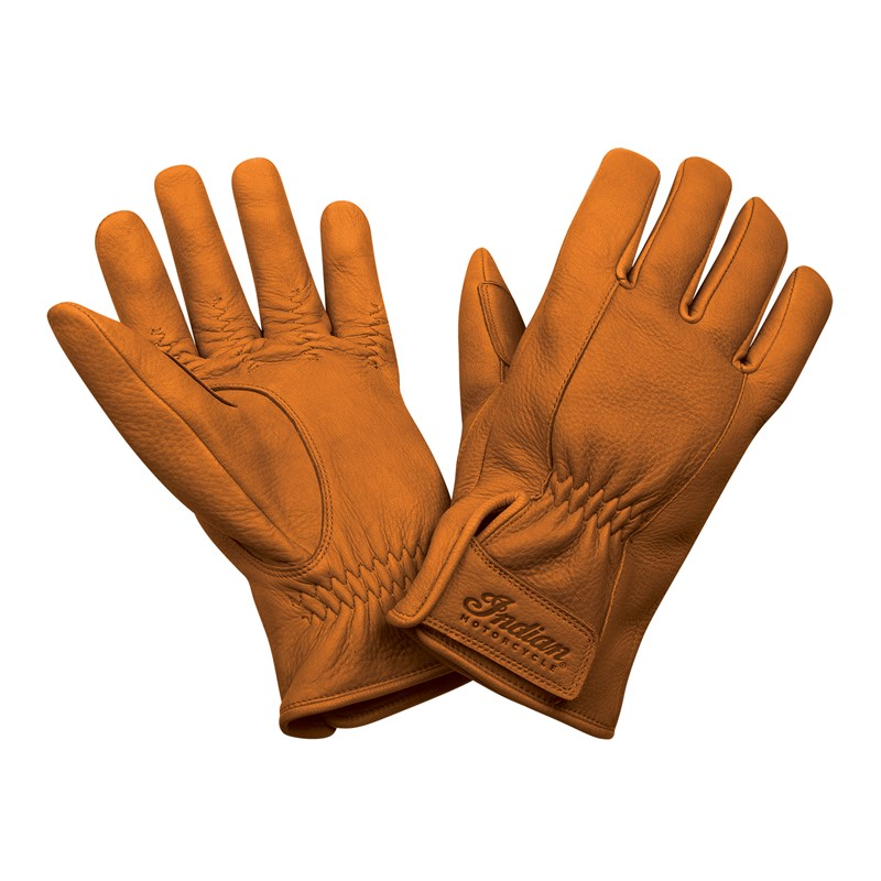 Men's Deerskin Leather Strap Gloves, Tan