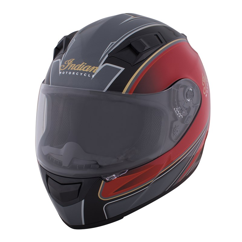 Full Face Outpost Helmet, Red/Black