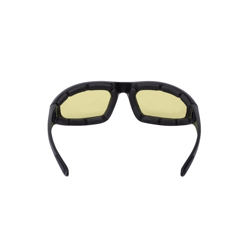 Riding Icon Sunglasses with Yellow Lens, Black