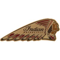 Indian Colored Headdress Pin Badge