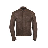 Men's Leather Benjamin Riding Jacket with Removable Lining, Brown