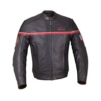 Men's Leather Freeway Riding Jacket with Removable Lining, Black